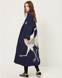 Japanese <b>Harajuku</b> Casual Cashmere <b>Trench Coat</b> Women Cartoon ...