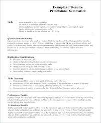 Profiles On Resumes Resume Profile Example Examples Of Profile On Resume Examples Of