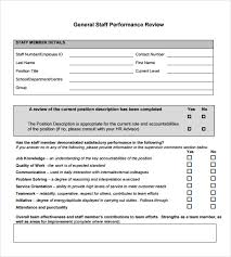 Sample Year End Performance Reviews Sample Performance Review 6 Documents In Pdf Word