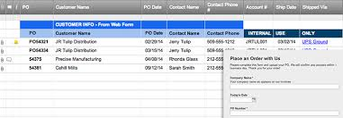 Customer Form Template Place An Order Form Template Smartsheet
