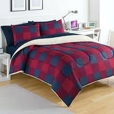 buffalo plaid comforter set duvet red and black cover 1205html