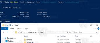 Create A Directory Create Symbolic Link In Windows 10 With Powershell
