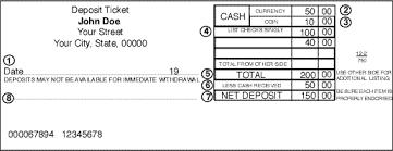 deposit slip examples deposit slip example letter format template