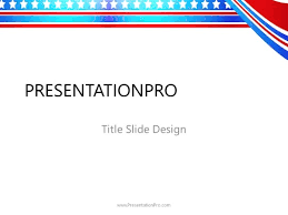 The Patriotic Republican Powerpoint Template Background In America