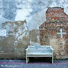 this old rustic wooden bench was made from a door here s how to plete