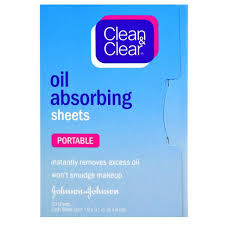 <b>Салфетки</b>, <b>впитывающие масло</b>, <b>дорожные</b>, Clean & Clear, 50 ...
