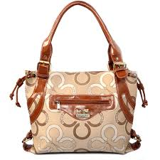 Coach Waverly Big C Large Khaki Totes EJF
