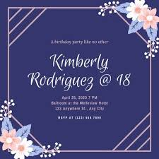 Then you can change the text and images the exact way you wish. Free Printable 18th Birthday Invitation Templates Canva