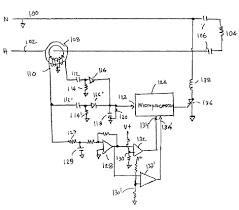 Diagram arc fault circuit breaker williams electric oakland interruptor diagram hand drawn showing diodes resistors micro processor current diagram of
