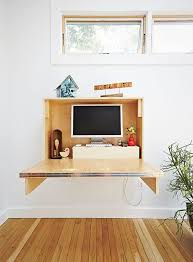 how to build a compact fold down desk for small spaces dwell