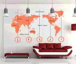 large clock wall art description wall sticker new large world map words clock wall art
