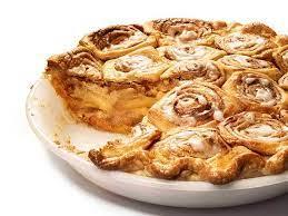 cinnamon bun apple pie recipe food