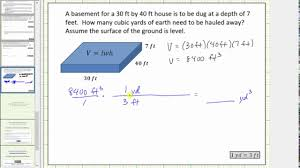 Conversion Chart For Concrete Determine Volume In Cubic Feet And Cubic Yards Conversion