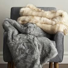 faux animal skin rugs arctic fox faux fur throw blanket the company