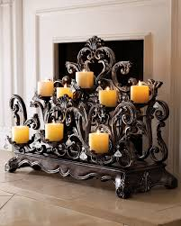fireplace candle holder candles in fireplace ideas