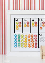 Diy Magnetic Chore Chart With A Free Printable 24 7 Moms