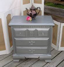 Silver Painted Bedroom Furniture Silver Nightstands