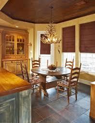 kitchen design rustic style wood cabinets dining furniture antler chandelier