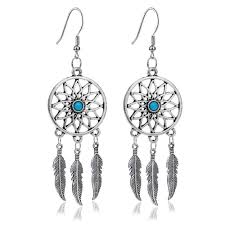 What Stores Sell Dream Catchers 100 Pair Hot Selling Dream Catcher Ear Drop Feathers Dangle Earrings 60