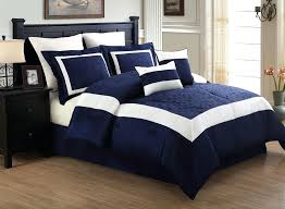 12 piece bedding set navy and white comforter queen bellissimo gridlock