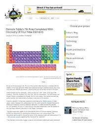 Periodic table's 7th row completed with discovery of four new element…