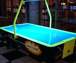 revolver 3 in 1 pool air hockey and table tennis 7ft hot flash ii