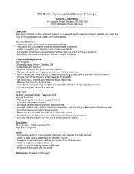Resume Sample For Nursing Cna Resume Samples Cover Letter No Experience Fresh Of Student