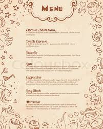 Restaurant Menu Page Template With Stock Vector