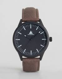men s watches digital designer watches asos asos watch distressed faux leather strap and black case