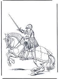 Ridder Te Paard Kleurplaten Ridders