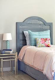 diy headboard made with faux shiplap