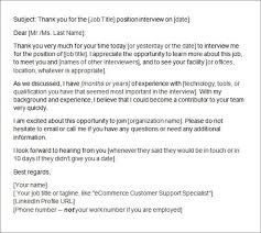 Thank You Letter Email Format After Interview Cv Resumes Maker Guide