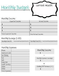 Printable Monthly Expense Sheet A Free Printable Monthly Budget Sheet Created For Young Adults Who