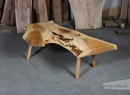 maple live edge coffee table