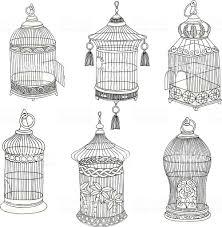 手描きのアンティークの鳥かご いたずら書きのベクターアート素材や
