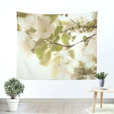 nature wall tapestry soft white flowers tapestry nature tapestry wall hanging