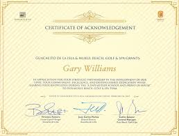 4 Free Sample Certificate Of Acknowledgement Template In