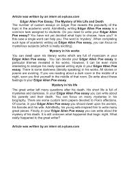 edgar allan poe literary analysis essay resume edgar allan poe literary analysis essay 14 lossy