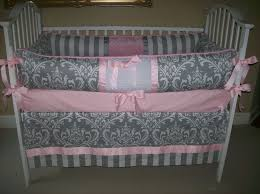 nursery beddings pink and grey leopard crib bedding in conjunction