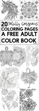 20 Gorgeous Free Printable Adult Coloring