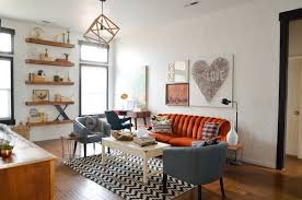 Orange Couch Living Room Vintage Decorating Ideas For Living Rooms The Best Style And A
