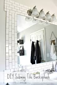 diy subway tile backsplash 1
