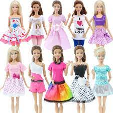 Set 10 Bộ Đồ Thời Trang Cho Búp Bê Barbie