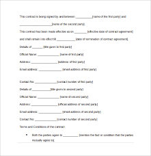 Contract Agreement Template Between Two Parties Contract Sample Between Two Parties Cycling Studio