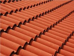 3 tab shingles red. Red Roof Tiles On An Azores Home 3 Tab Shingles