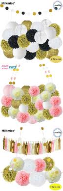 26PCS Party Decoration Set String Garlands,Paper Lanterns,Honeycomb Ball,Tissue  Paper Wedding