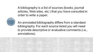 Annotated Bibliography Example For Journal Article Apa Y