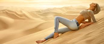 summer outdoors wallpaper. Landscape Women Outdoors Model Nature Sand Brunette Jeans Lying Down Desert Summer Vacation Joint Mariana Wallpaper