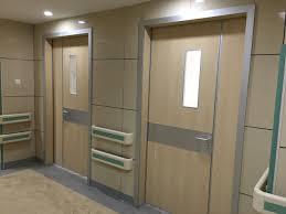 hospital doors with glass window