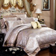 gold and silver fancy indian inspired ethnic pattern neoclassical style royal style full queen size bedding sets